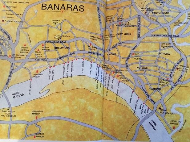 Map of Varanasi